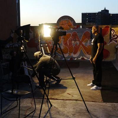 DMC on Hellraisers video shoot