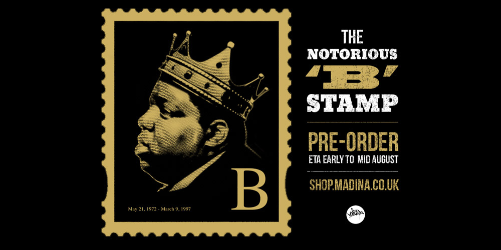 Notorious BIG Stamp