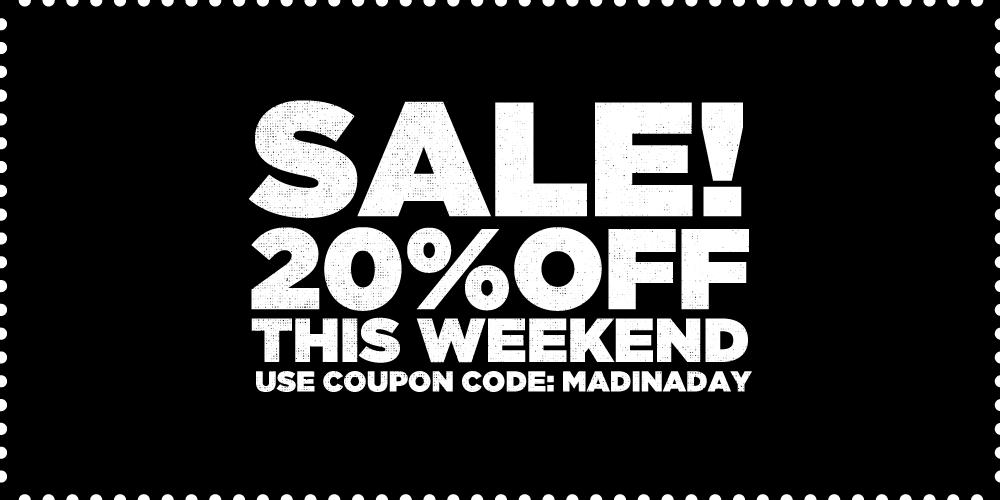 SALE! 20% OFF THIS WEEKEND