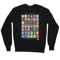 Black HipHop Stamps Sweater