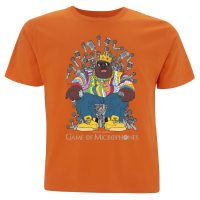 Game of Micophones Biggie Smalls T-Shirt Orange
