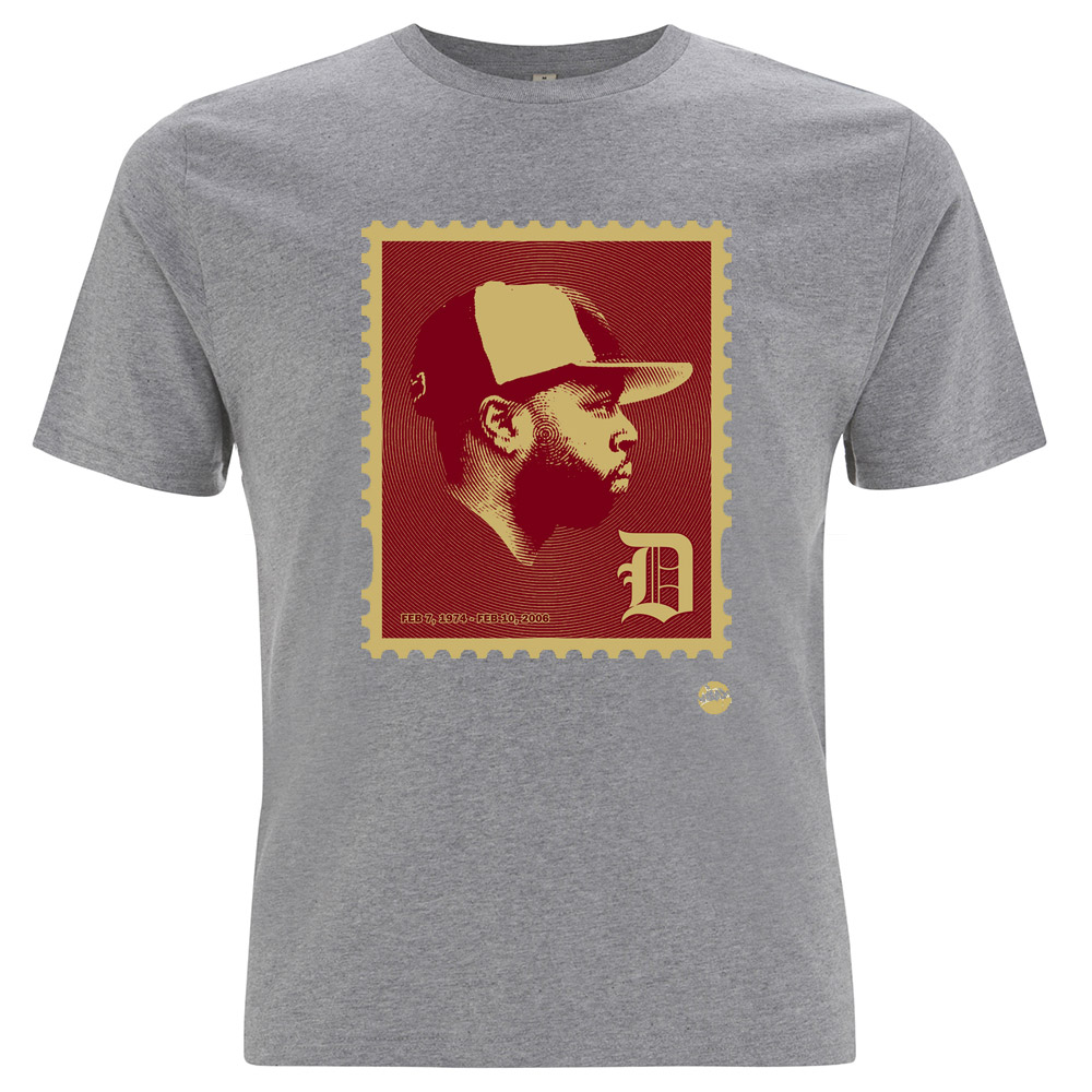T shirt design queens ny - Jdilla Jd Stamp Remix Tshirt Grey