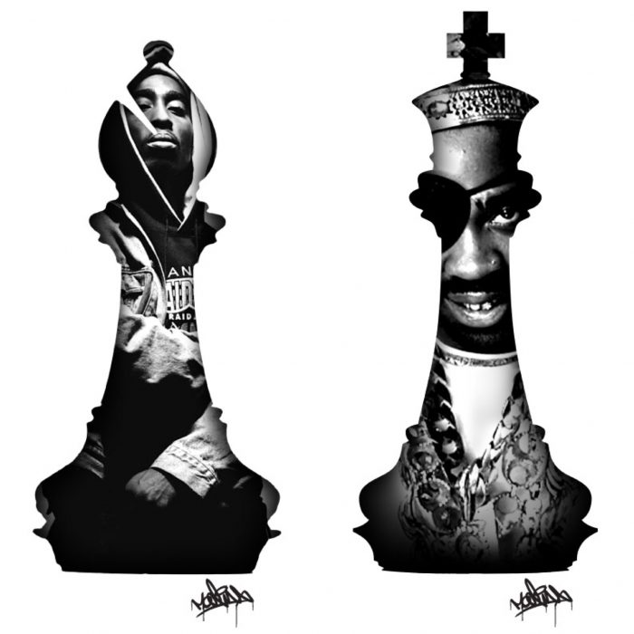 2Pac Chess Piece Slick Rick HipHop